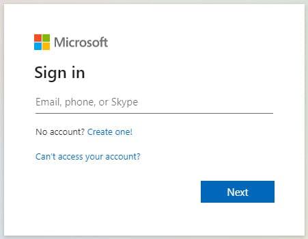 Đăng nhập tài khoản Microsoft