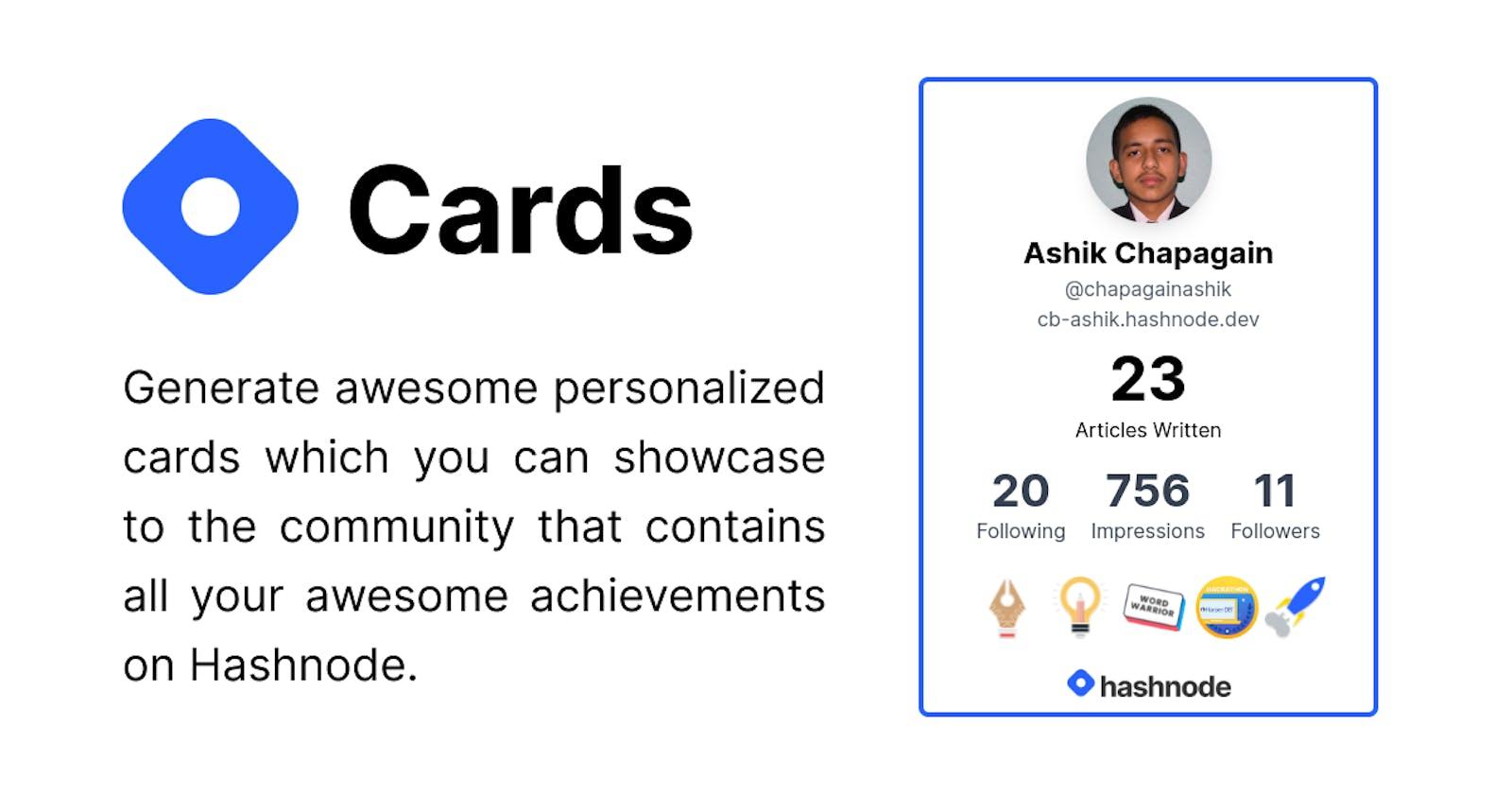 Introducing Hashnode Card: Showcase awesome hashnode achievements