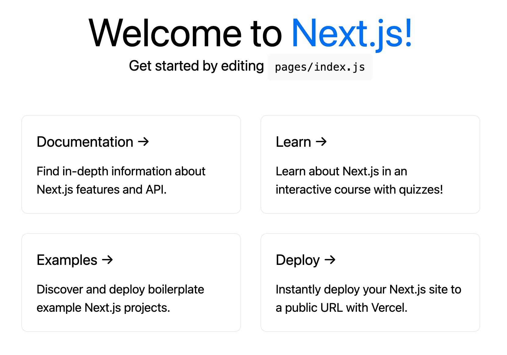Basic Next.js application