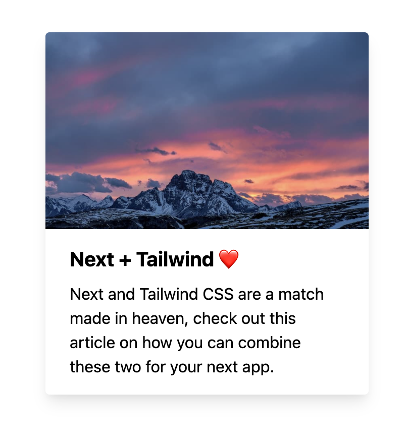 Next.js and Tailwind working