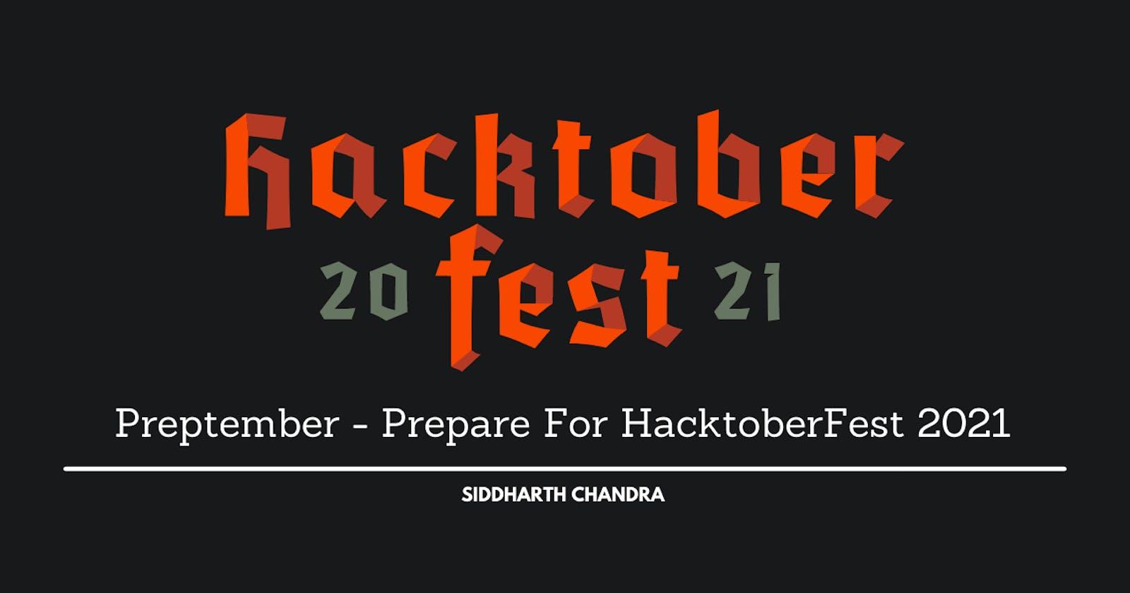 Preptember - Prepare For HacktoberFest 2021