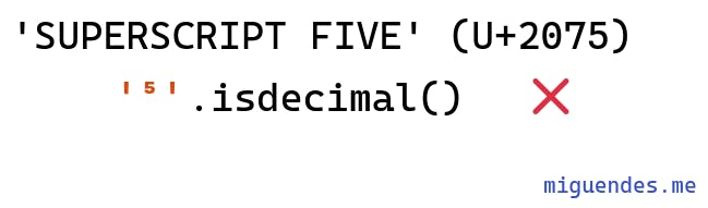 isdecimal cannot accept superscript