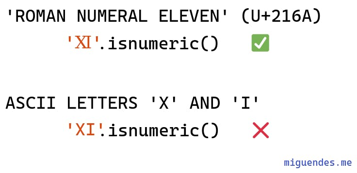 isnumeric works well with roman numbers