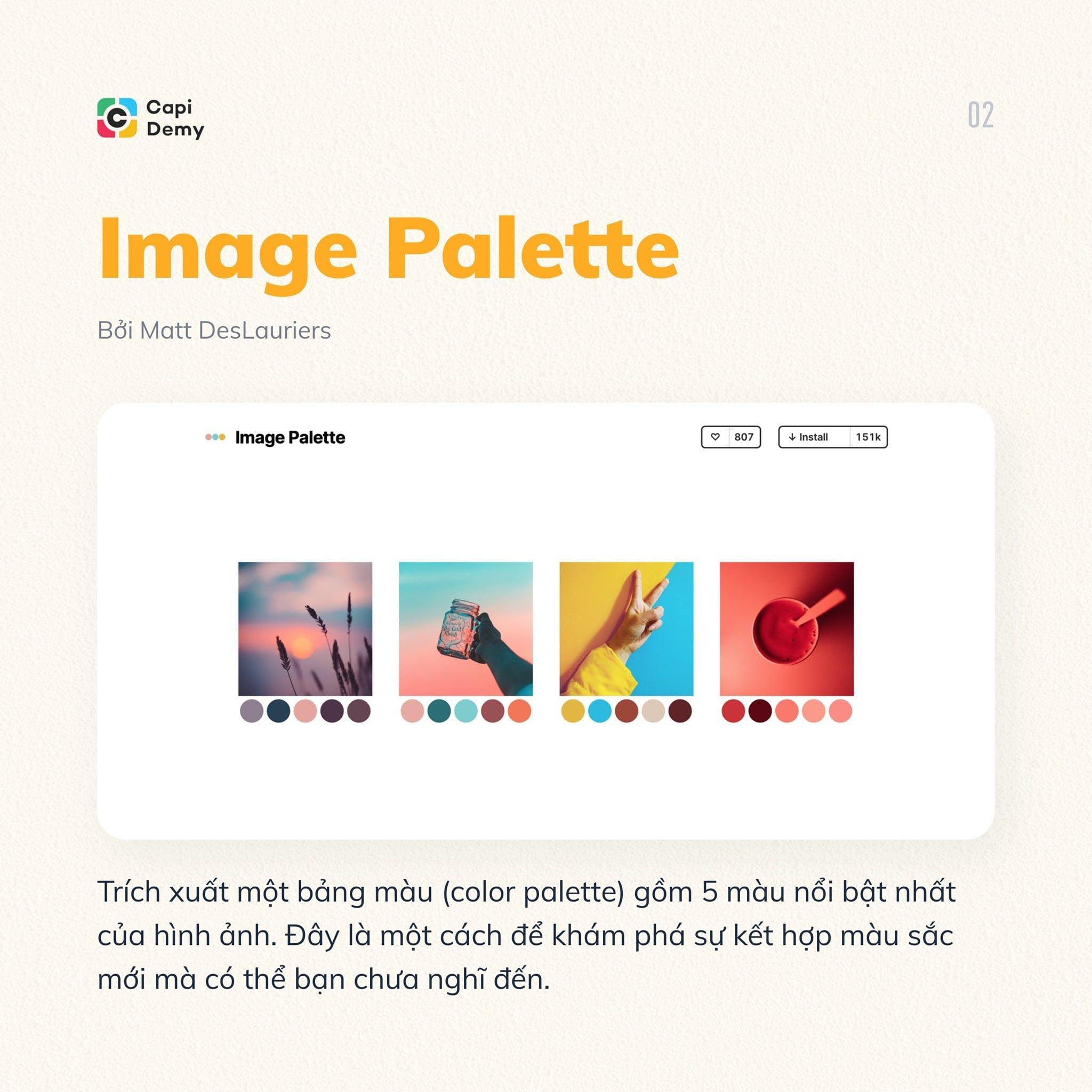 6 FIGMA PLUGINS BẠN NHẤT ĐỊNH PHẢI THỬ - Image Palette