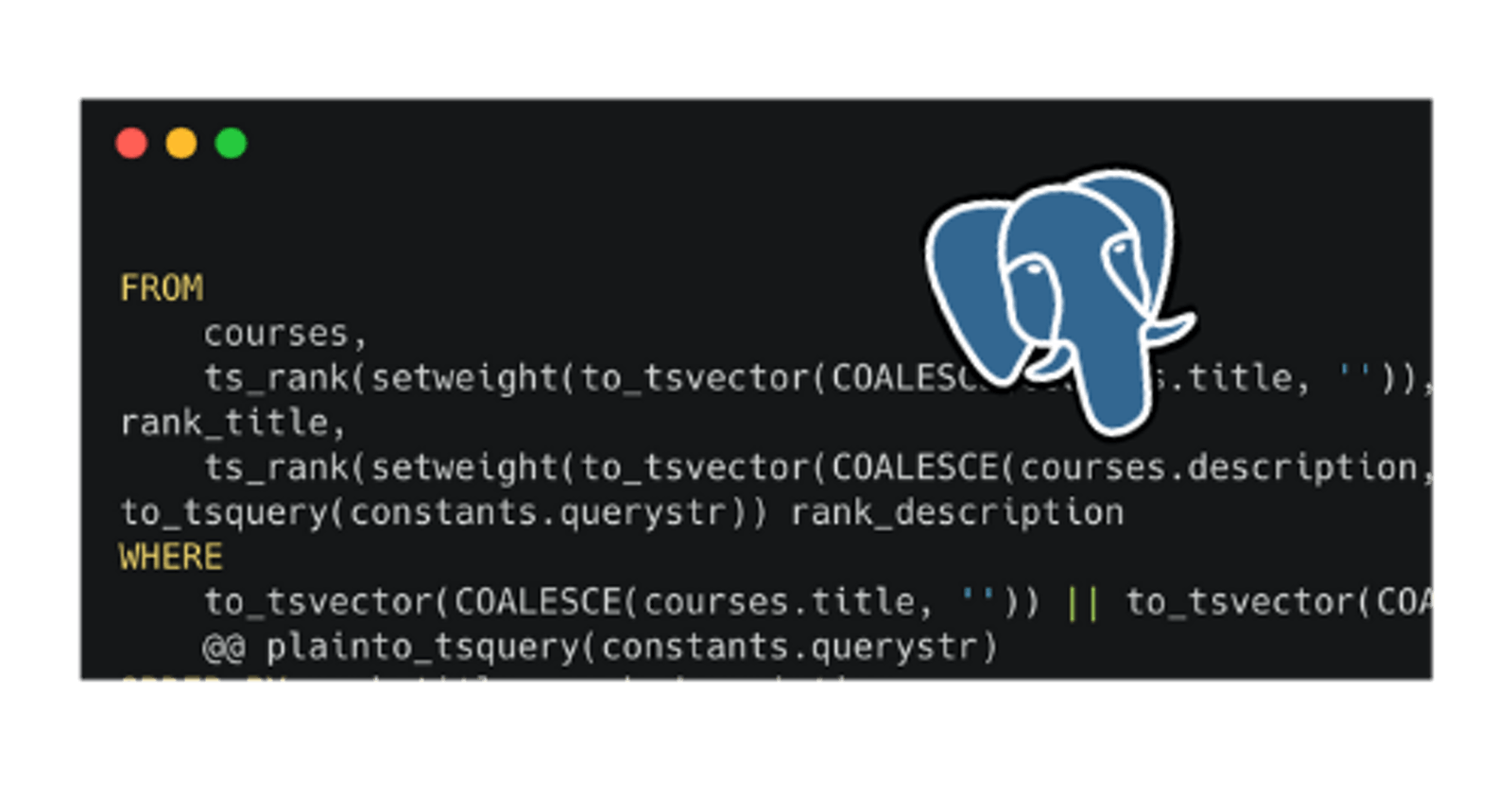 A powerful full-text search in PostgreSQL in less than 20 lines
