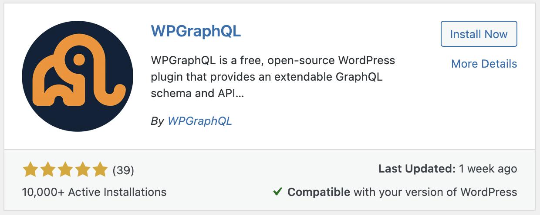 WP GraphQL plugin