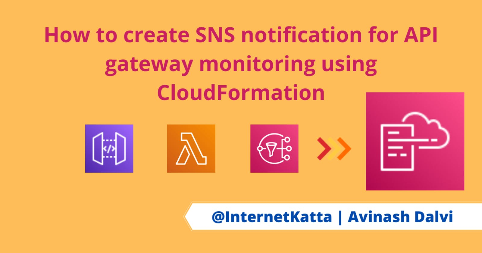 How to create SNS notification for API gateway monitoring using CloudFormation