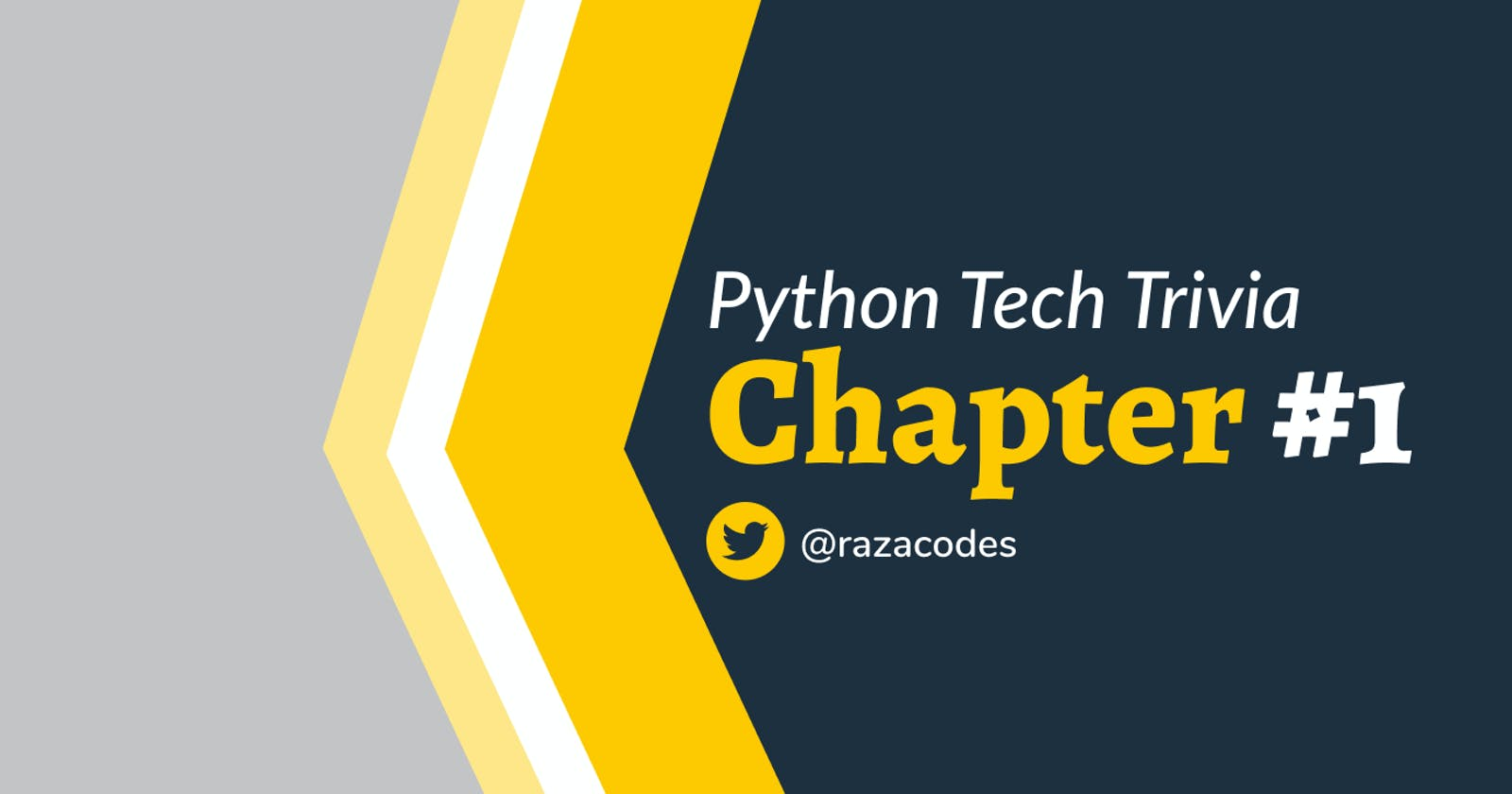 ❇️ Python Tech Trivia ❇️ Chapter 1
