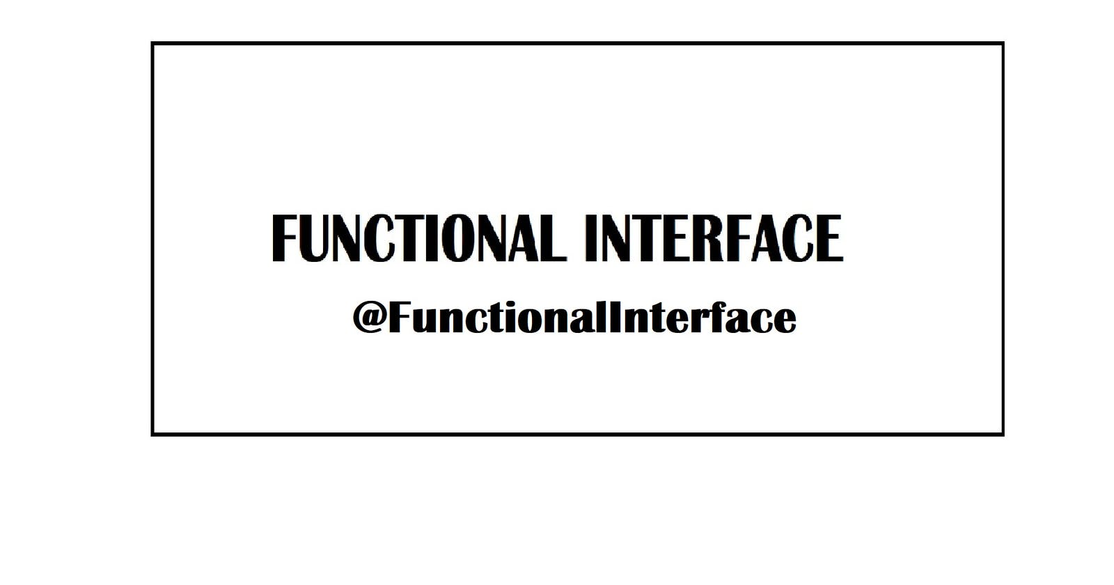 Java 8: Functional Interfaces