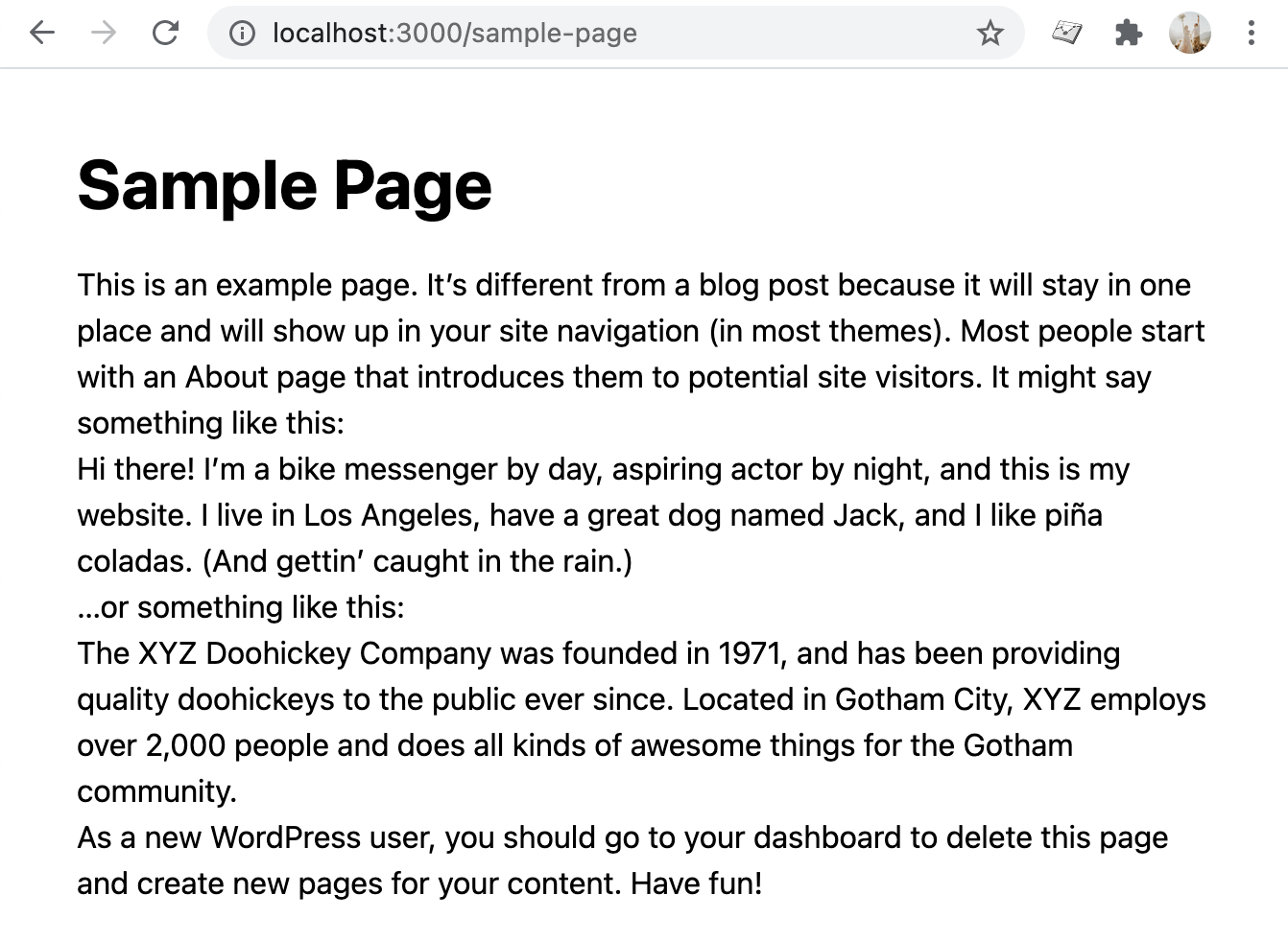 Render WordPress pages in Next.js
