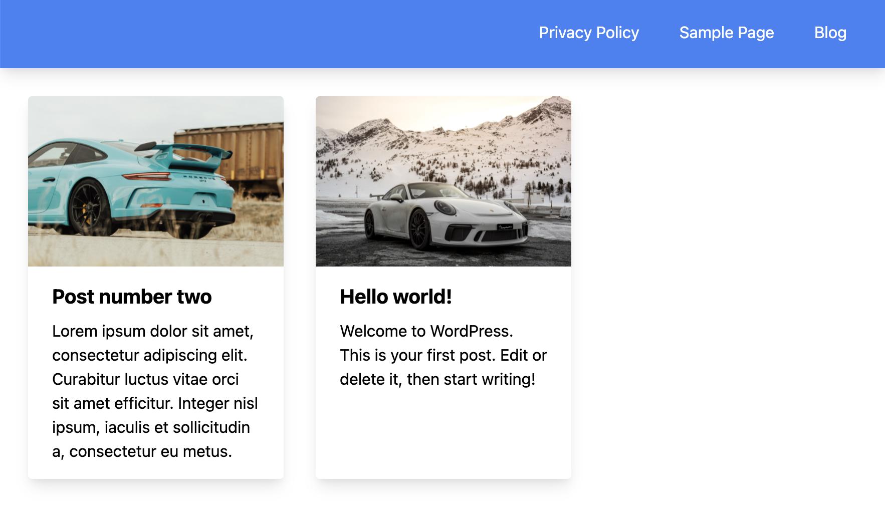 WordPress menu in Next.js