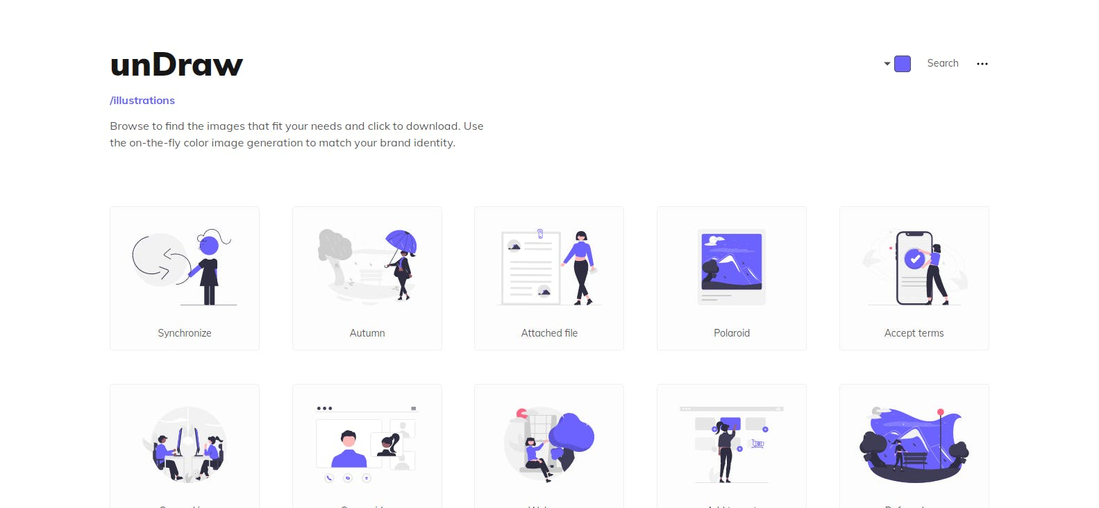 undraw homepage