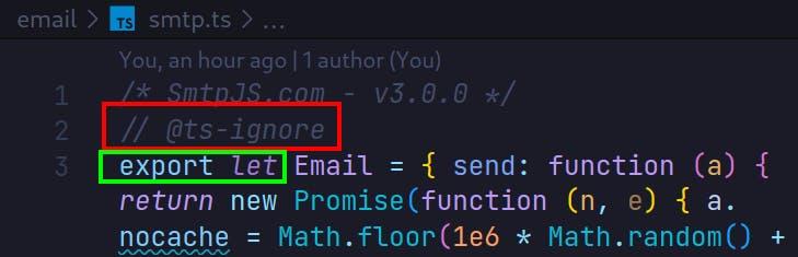 convert SMTP.js to TS