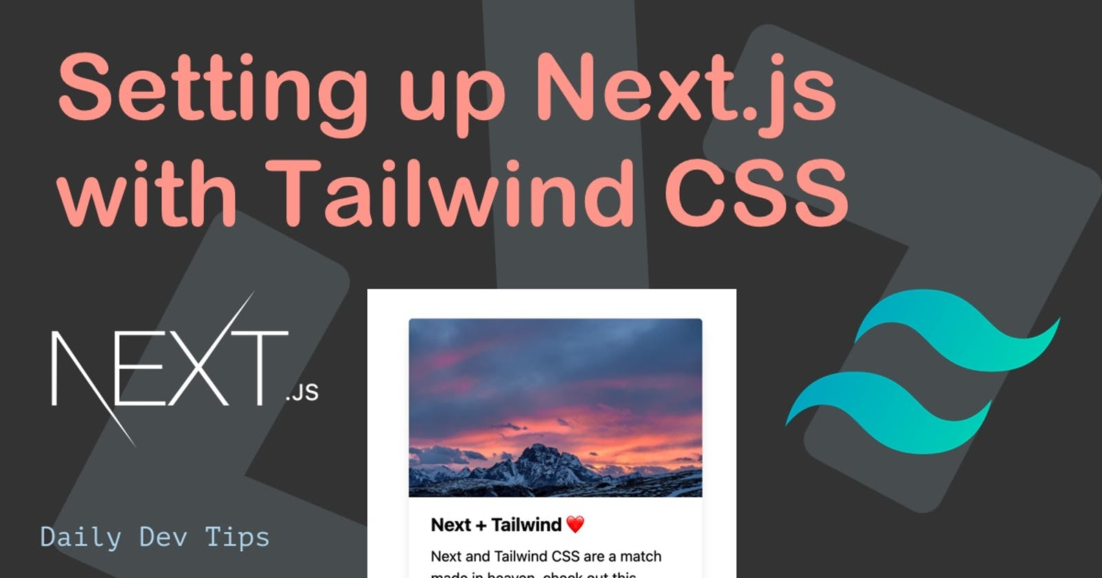 Setting up Next.js with Tailwind CSS