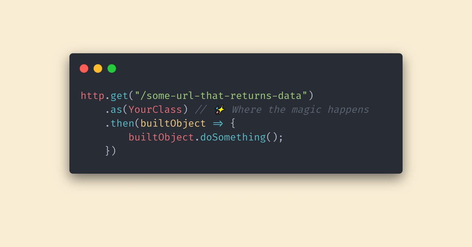 How to automatically map a JSON response to a TypeScript object