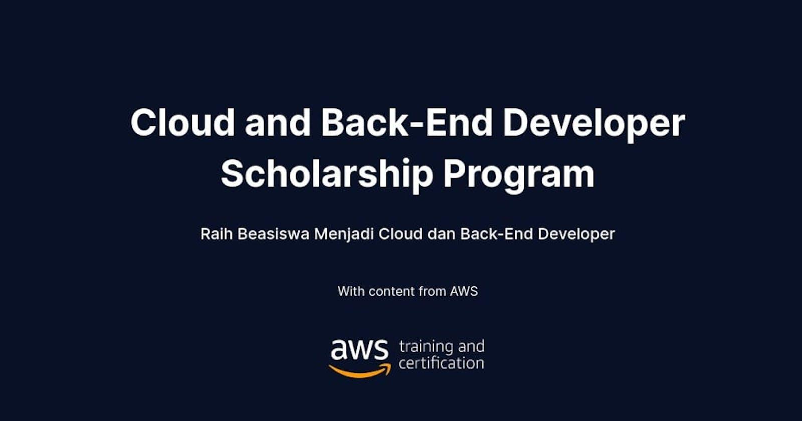 Dicoding x AWS Cloud and Back-End Developer Scholarship Program
