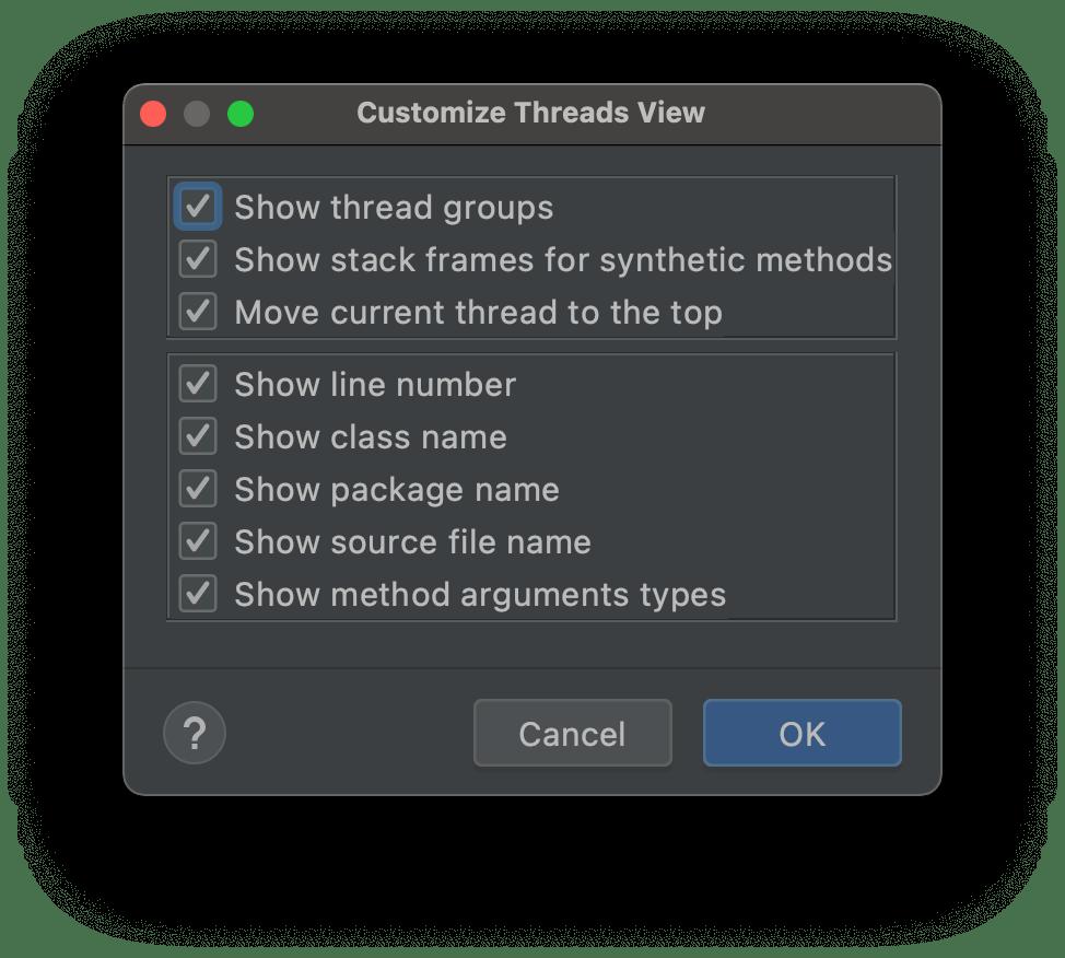 Customize Thread View in IntelliJ/IDEA