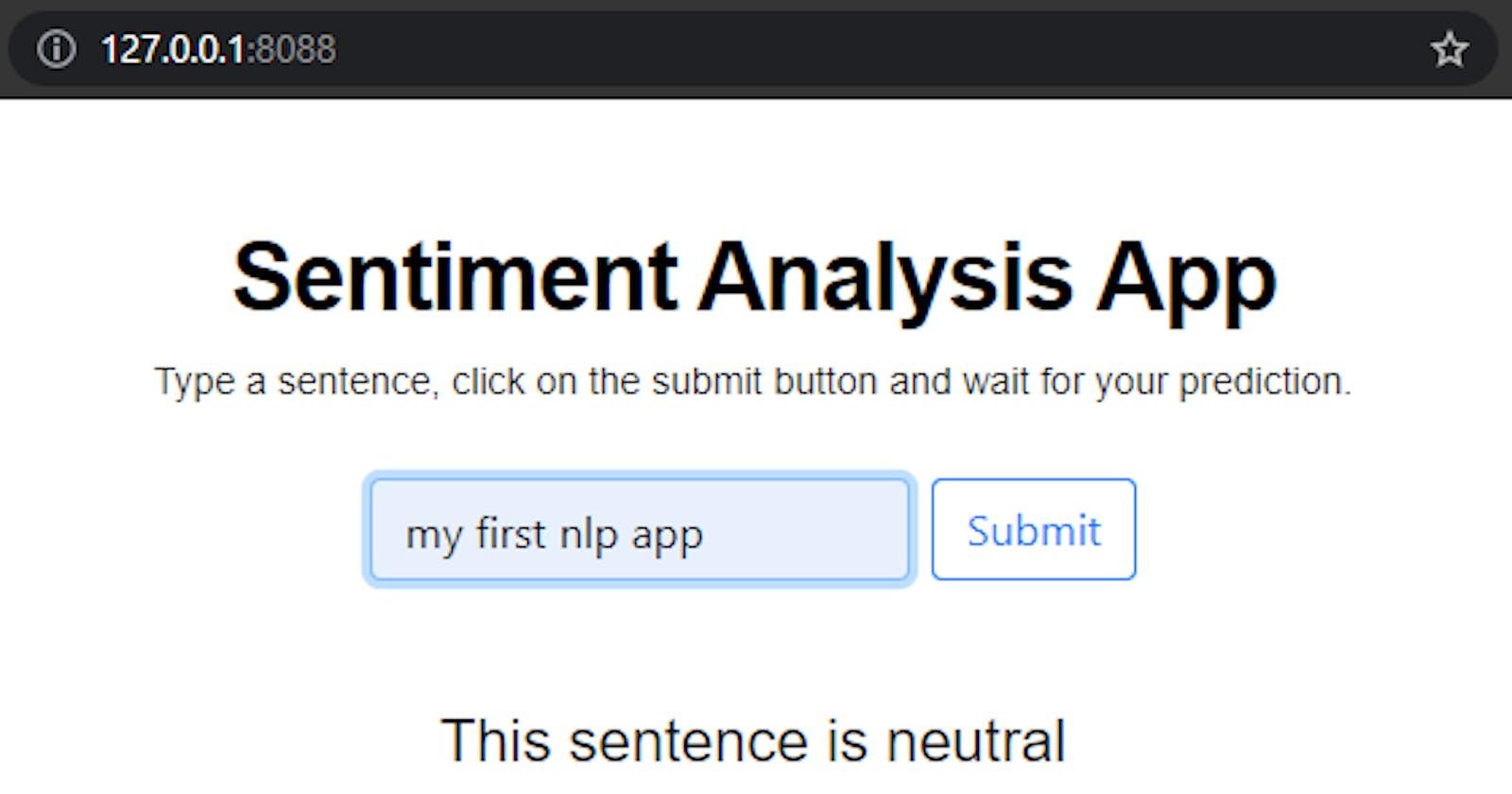 Sentiment analysis using python and NLTK