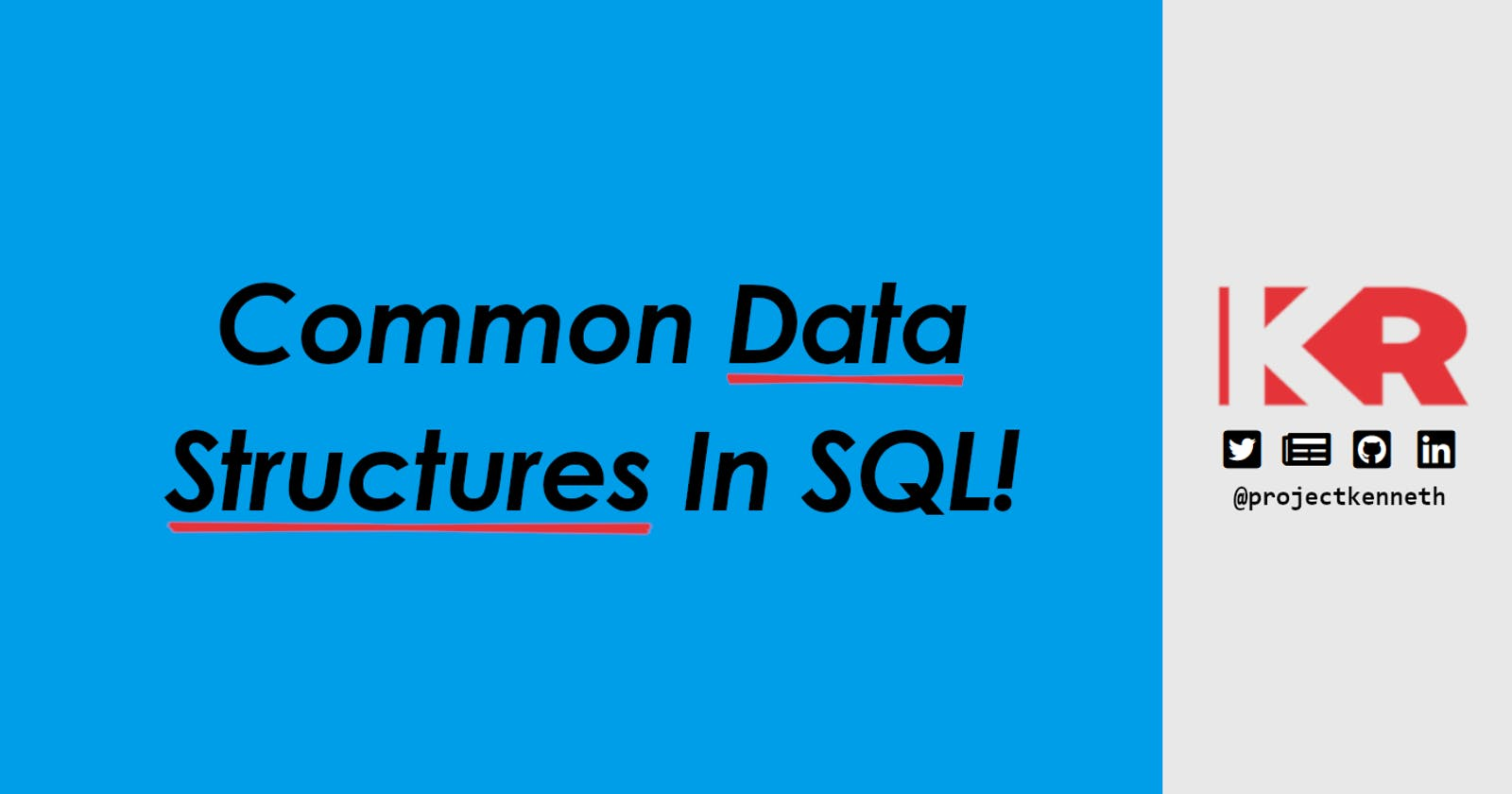 Representing Common Data Structures In SQL