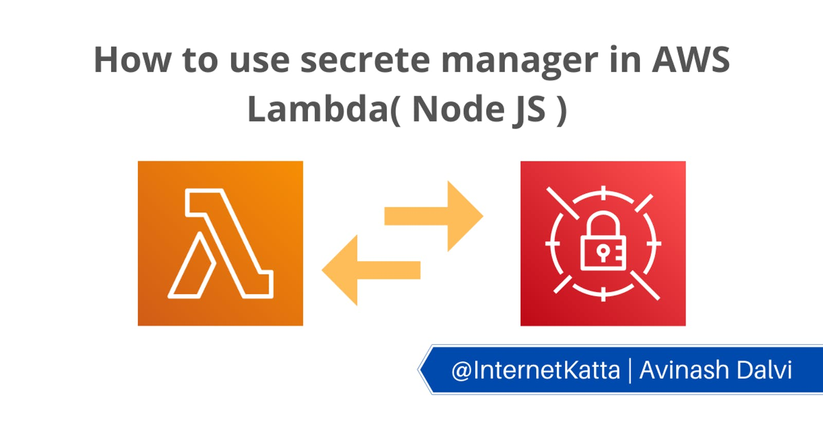 How to use secrets manager in AWS Lambda( Node JS )