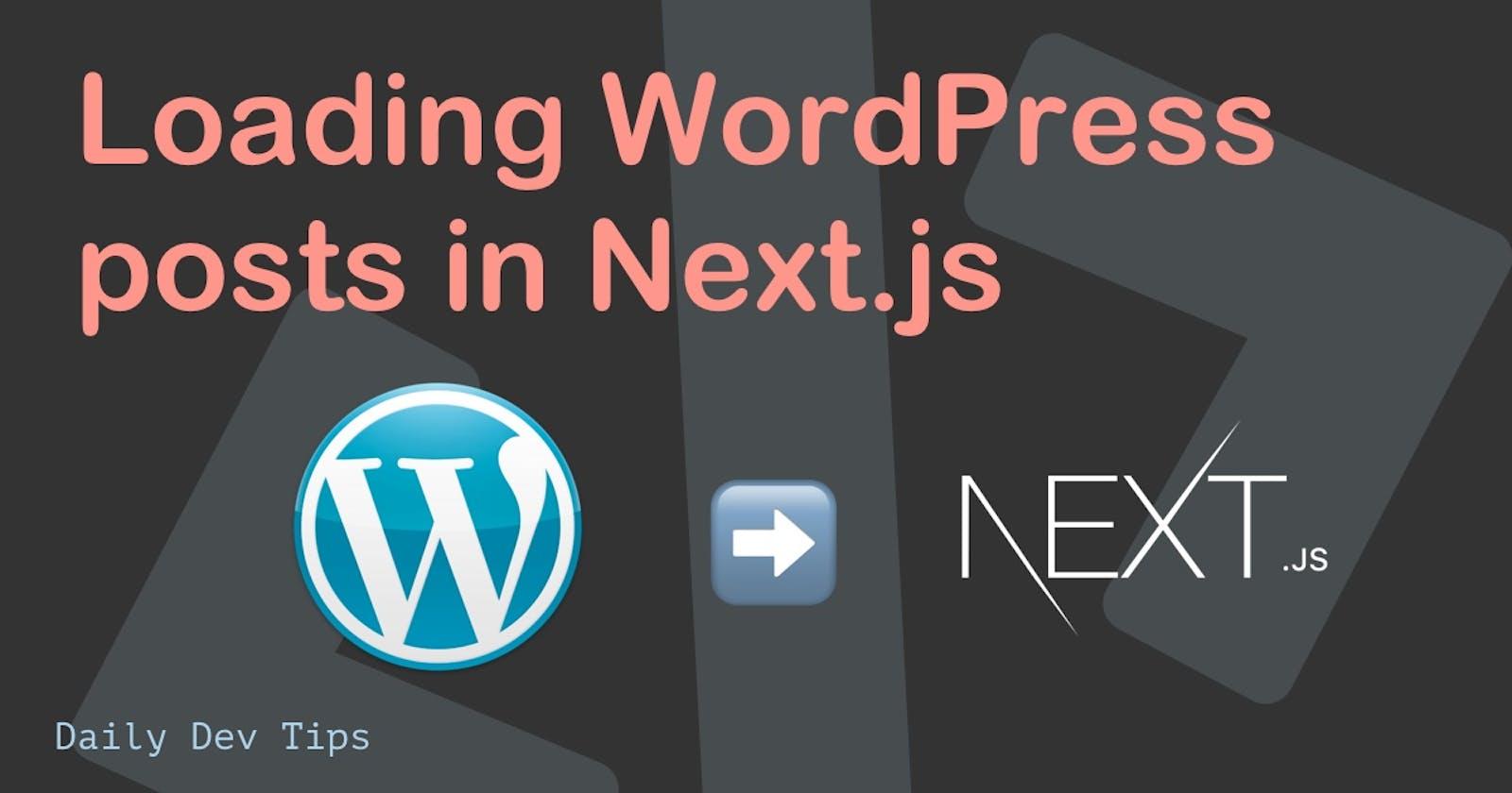 Loading WordPress posts in Next.js