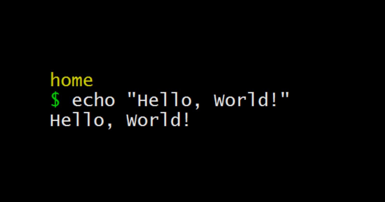 The Hello World Programs