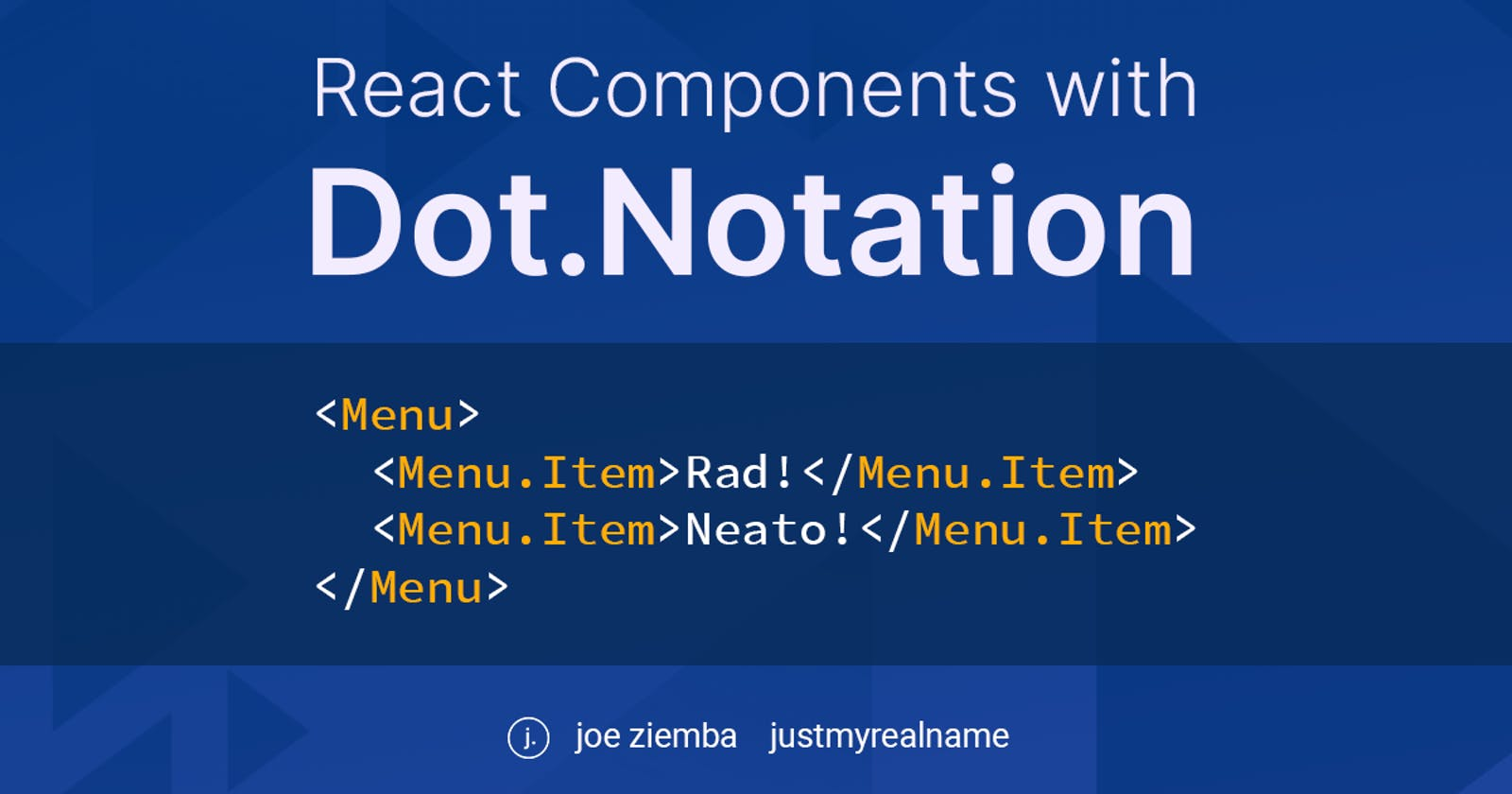 Level Up Your React Components with Dot Notation