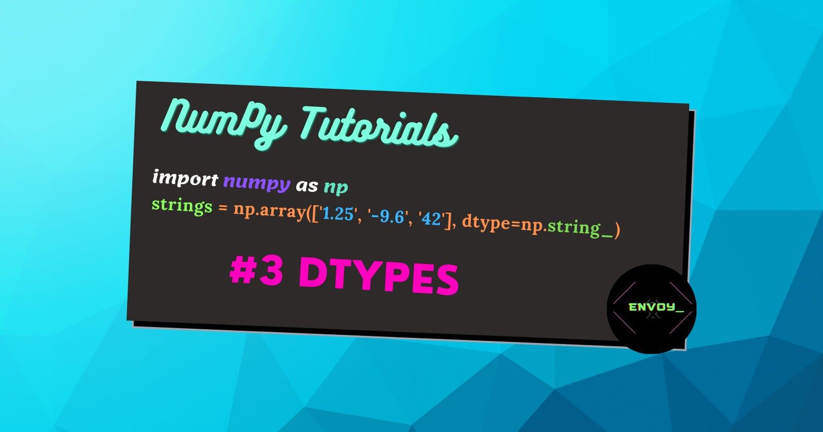 NumPy - dtypes