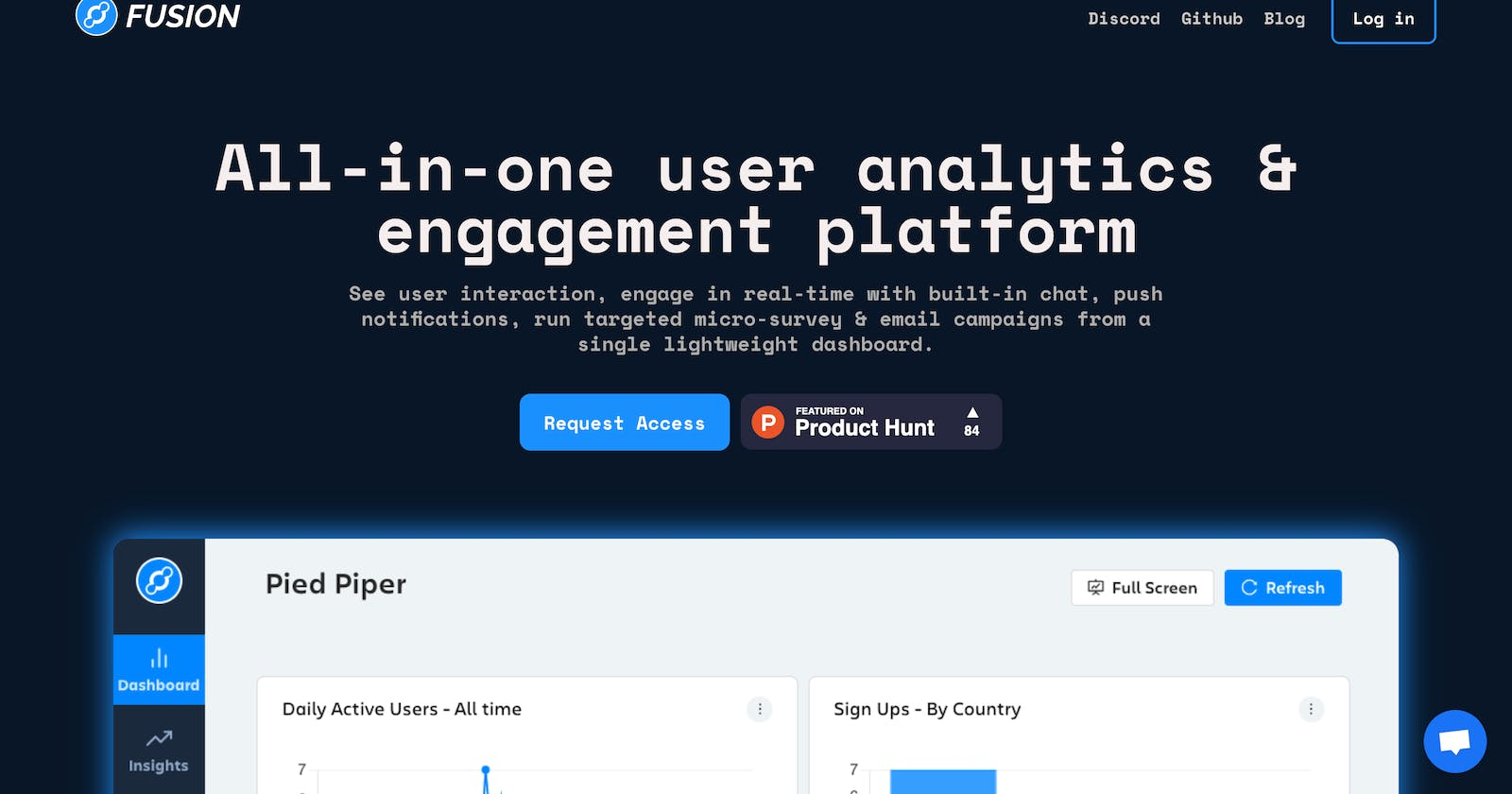 Building FusionHQ - All-in-one user analytics & engagement platform.