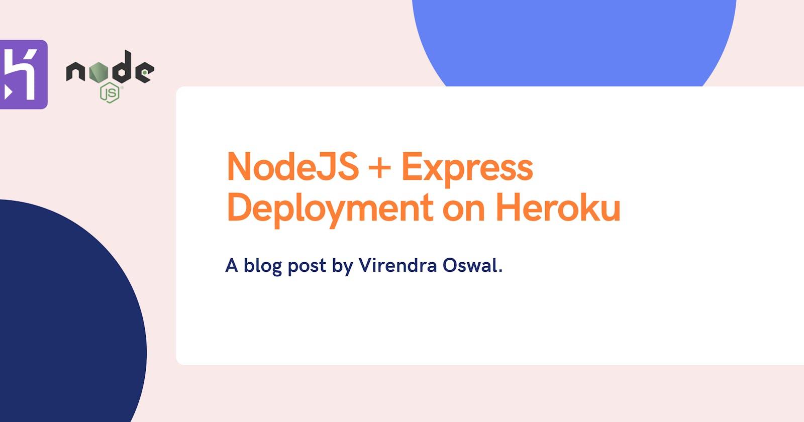 NodeJS + Express deployment on Heroku