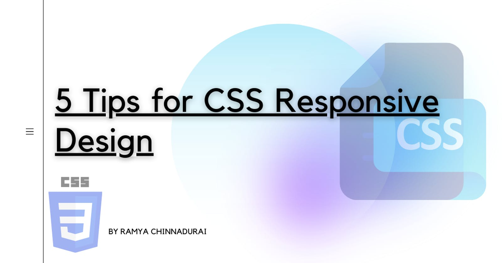 5 Tips for CSS responsive design