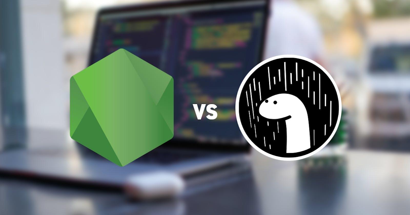 NodeJS vs. Deno - A Simple Web Server (2021)