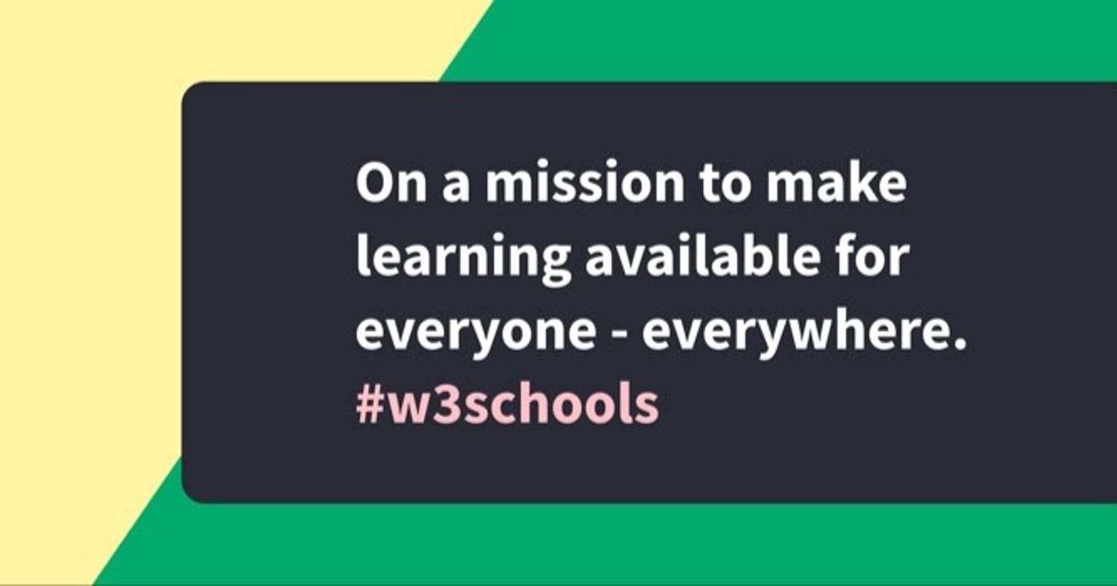 10 Amazing Features on W3School for Developers