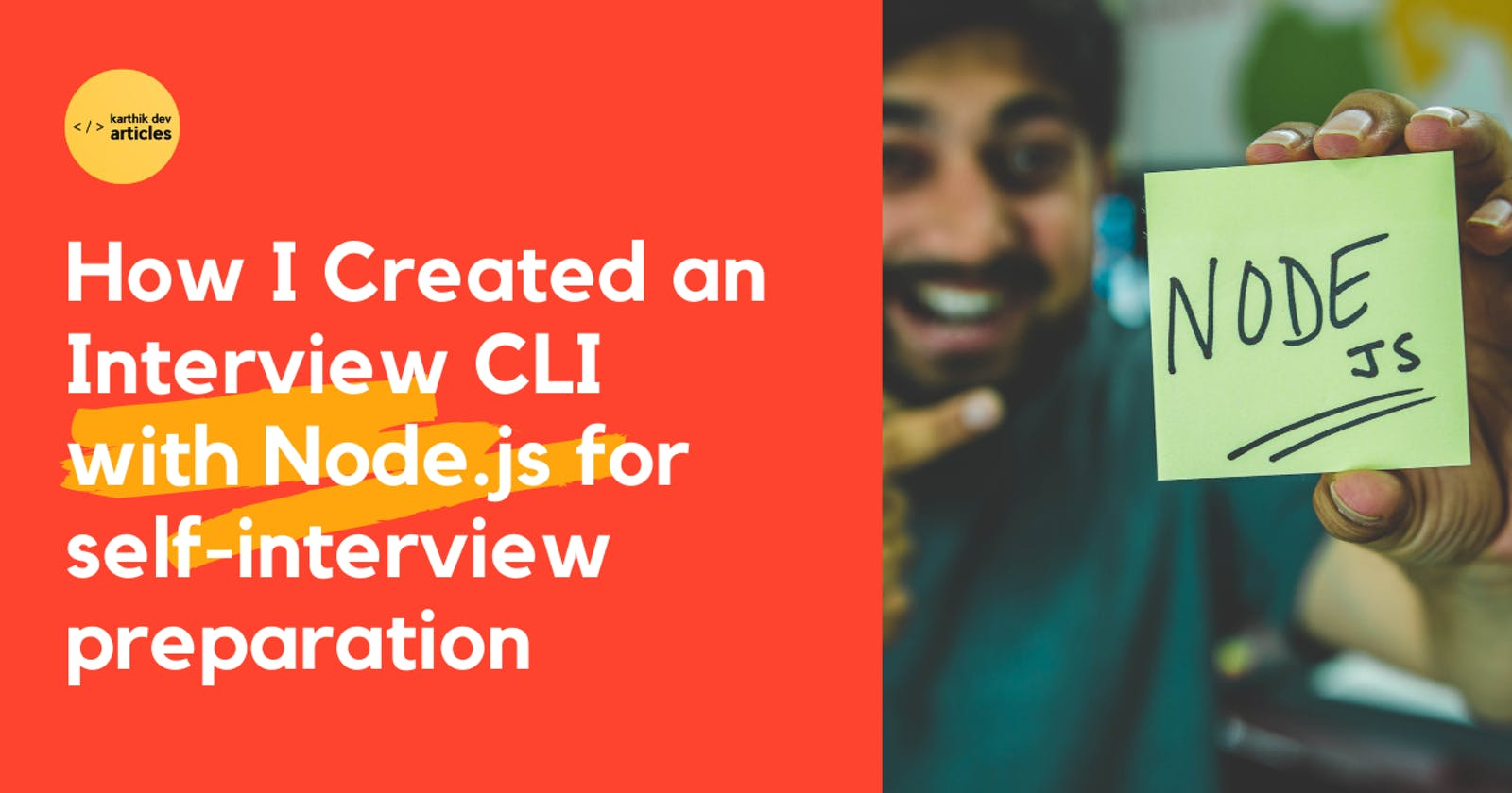 How I Created an Interview CLI with Node.js for self-interview preparation