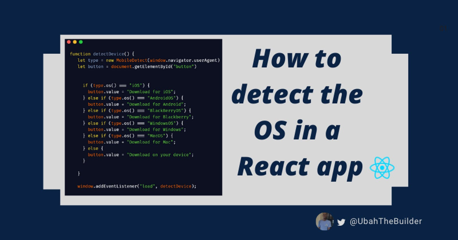How to detect the operating system of a user from a React app