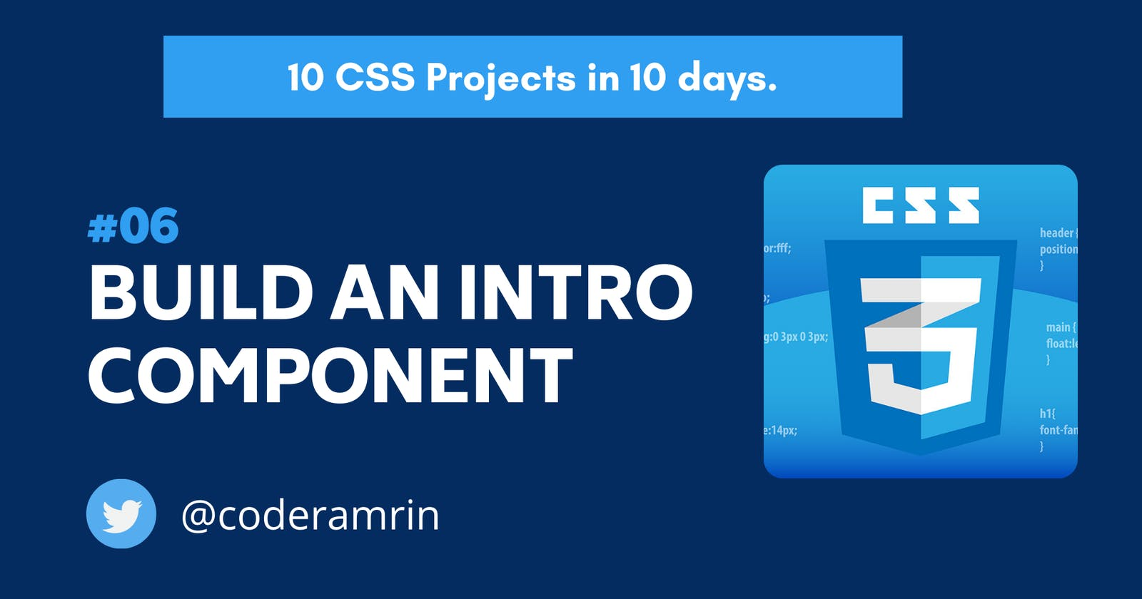 Build 10 CSS Projects in 10 days: Project 6