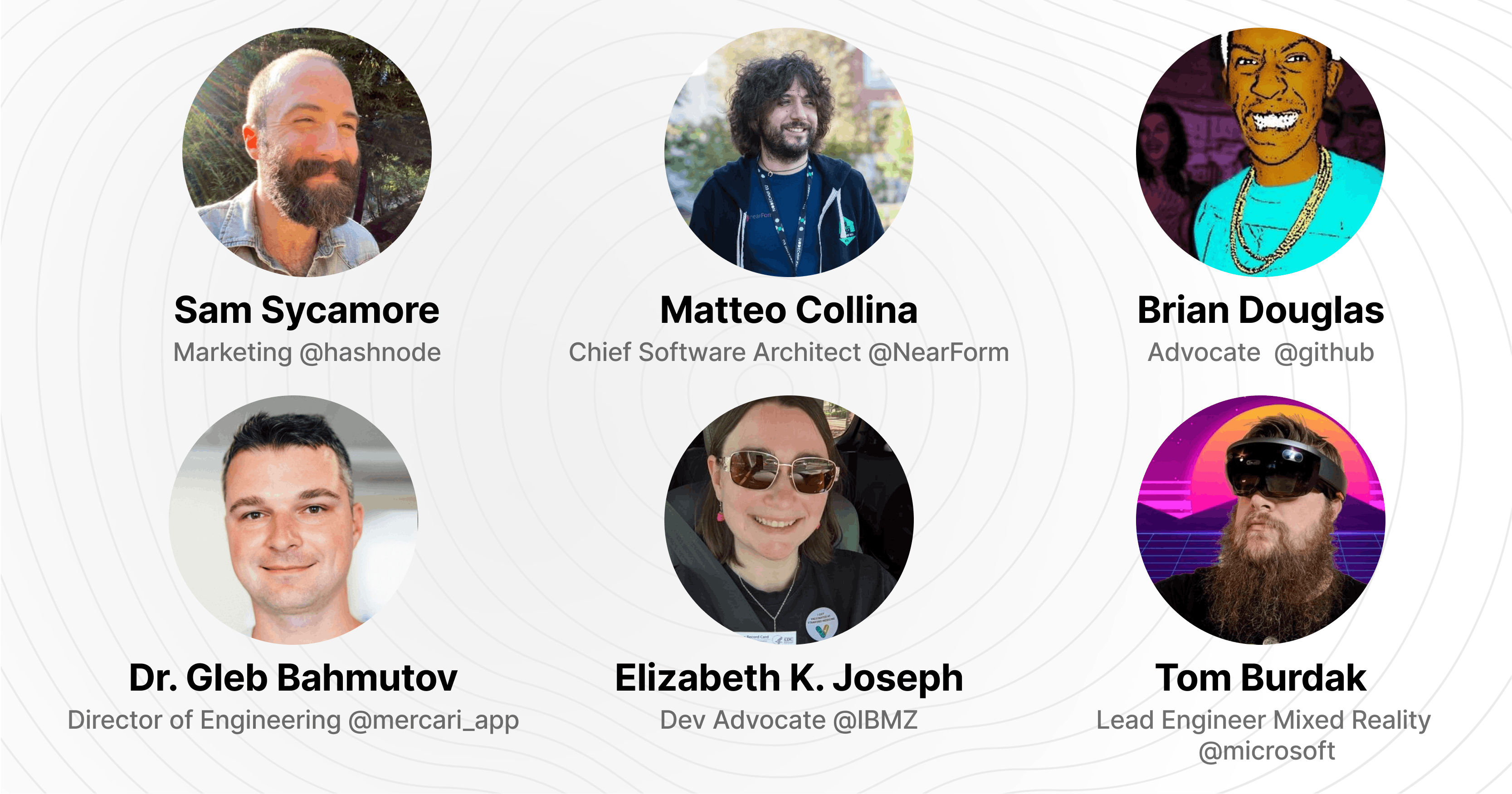 The Hashnode Open Source Symposium Speakers