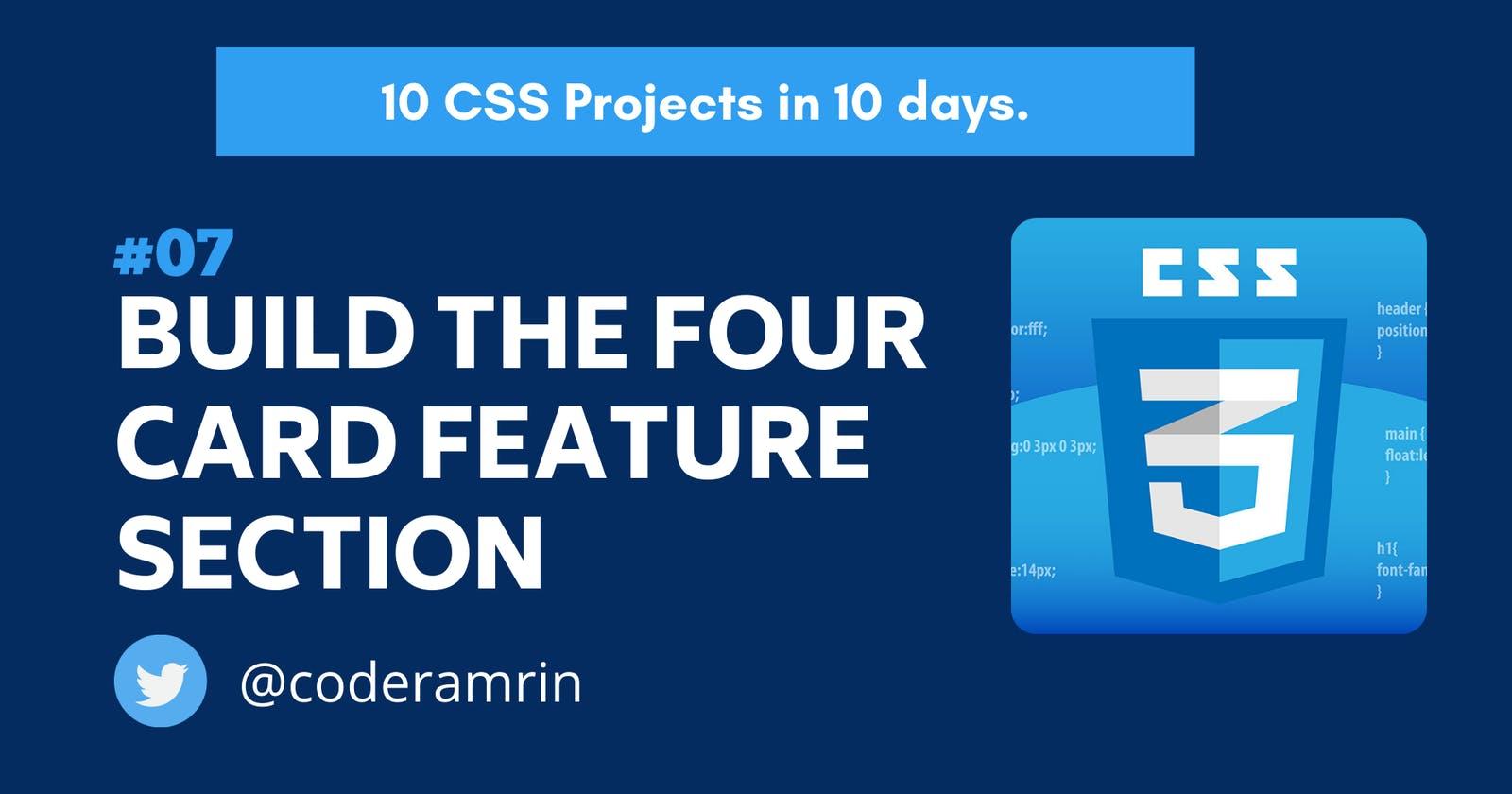 Build 10 CSS Projects in 10 days: Project 7
