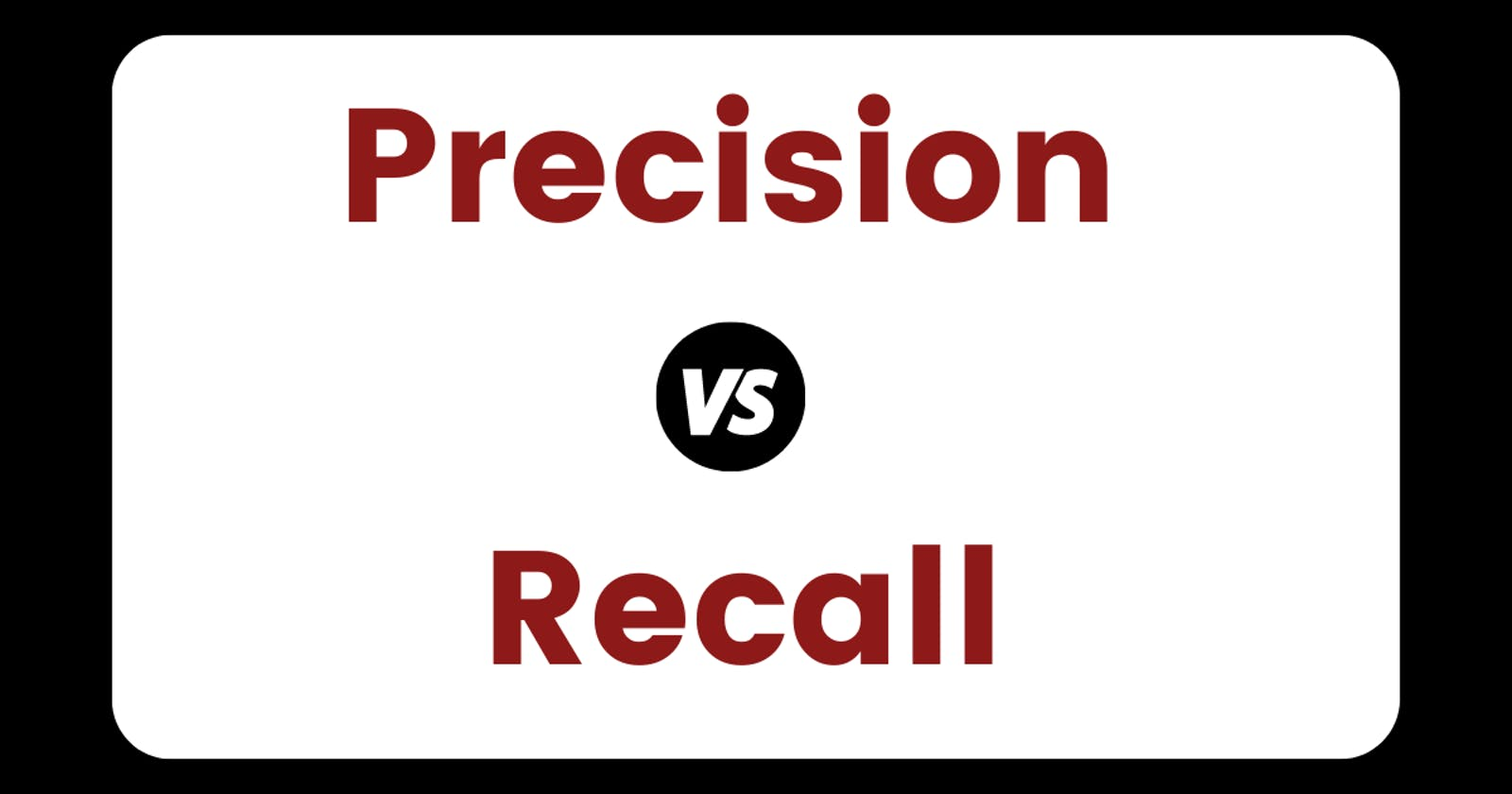 How to Think About Precision And Recall