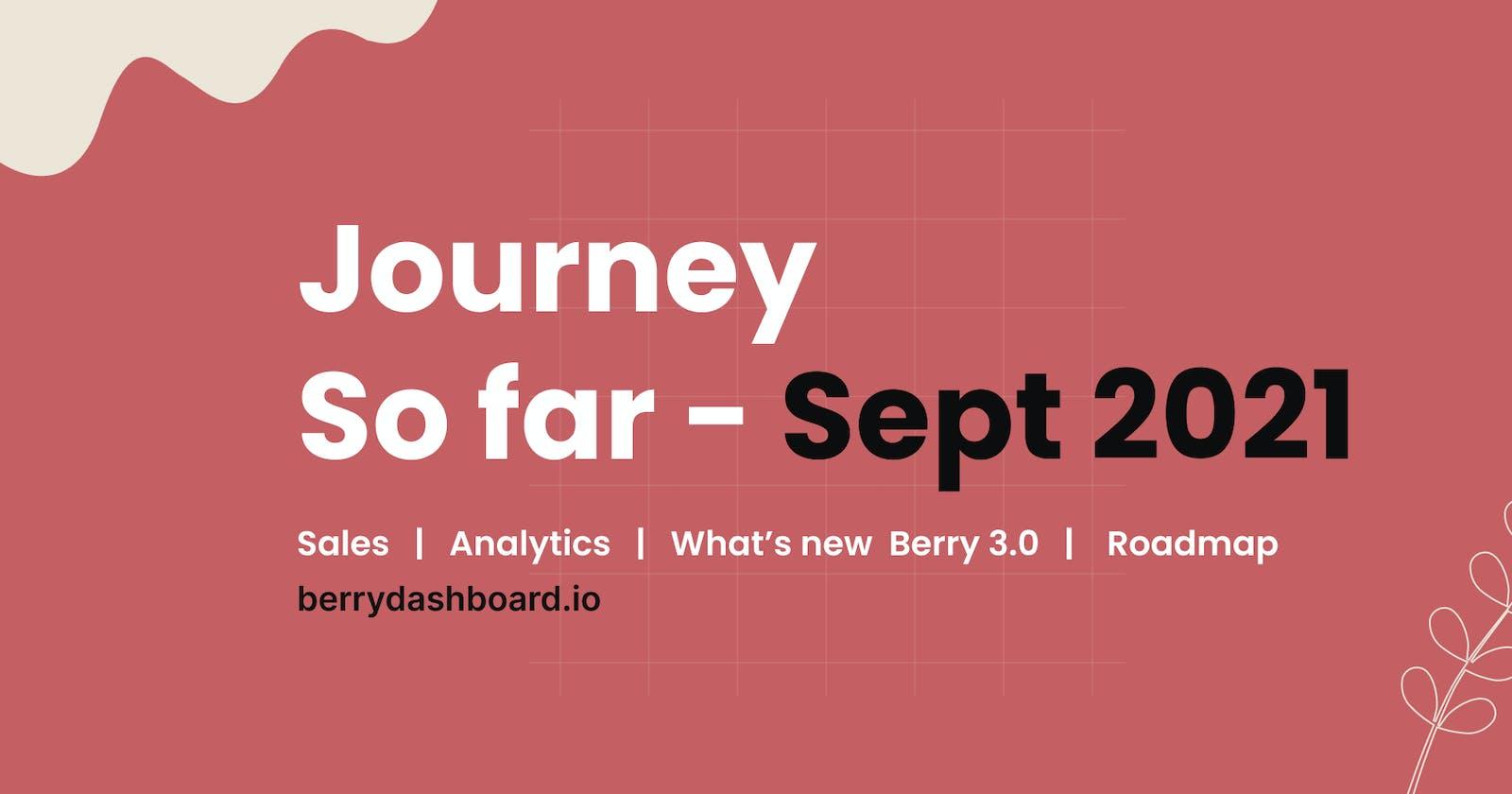 Journey So far - September 2021