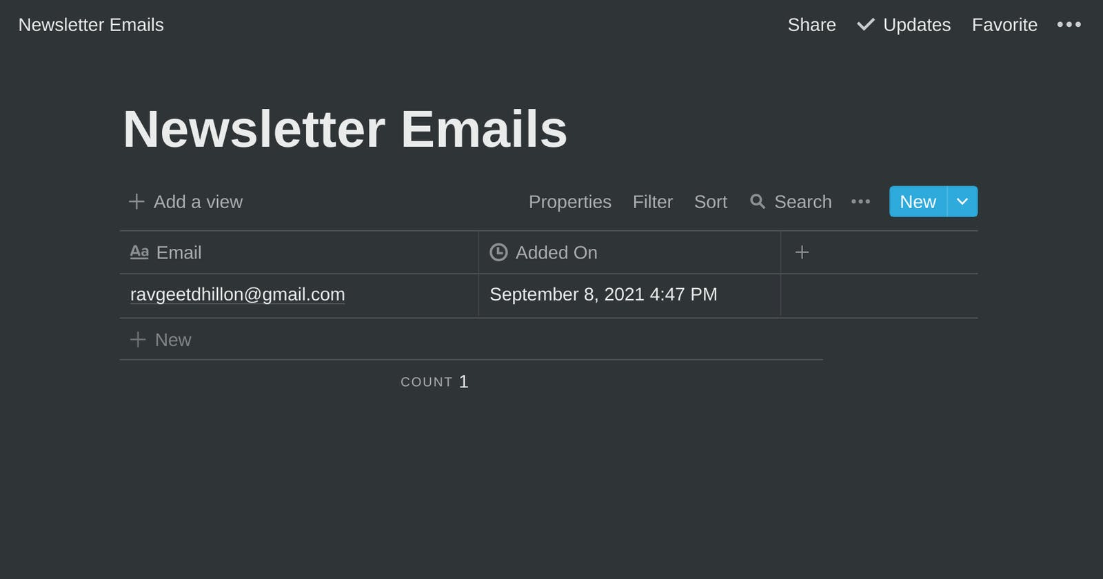 Collect Email Signups With the Notion API
