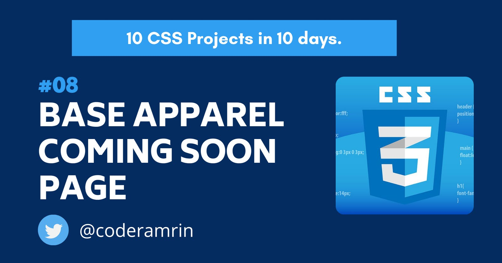 Build 10 CSS Projects in 10 days: Project 8