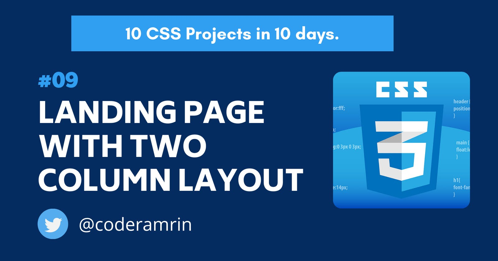 Build 10 CSS Projects in 10 days: Project 9