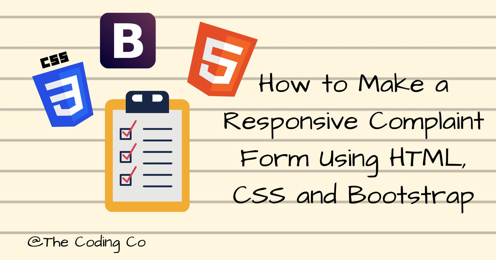 How To Make A Responsive Complaint Form Using HTML, CSS, and Bootstrap