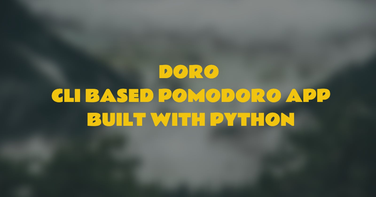How I built an open source CLI based Pomodoro app?