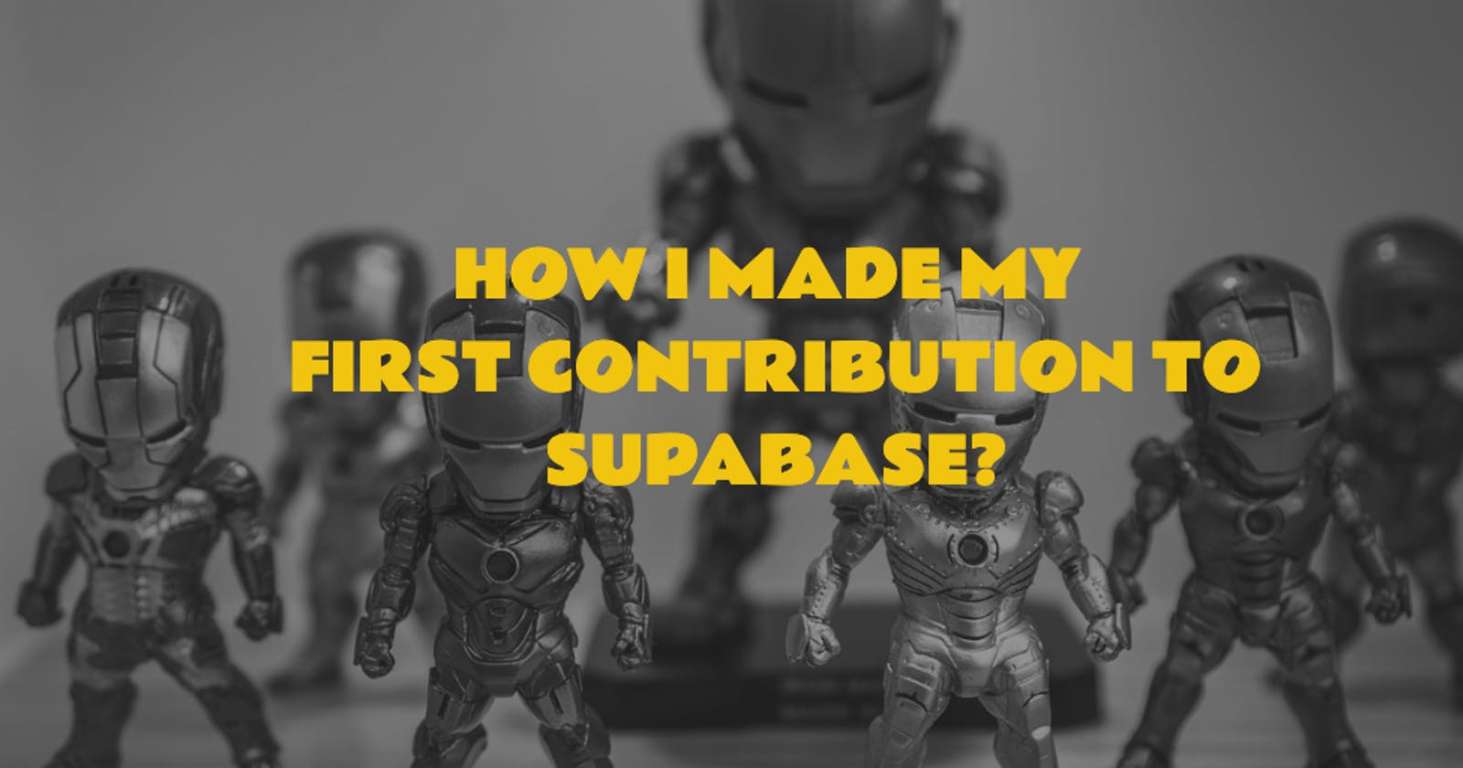 How I made my first contribution to supabase?