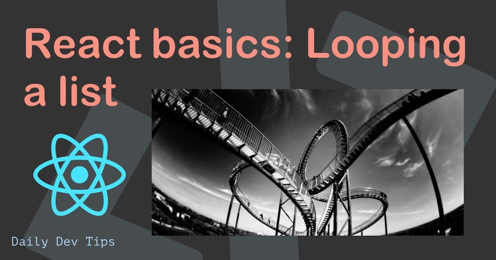 React basics: Looping a list
