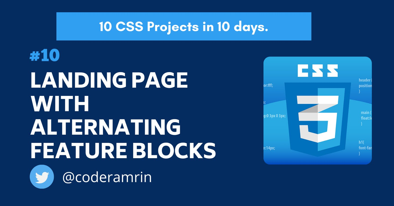 Build 10 CSS Projects in 10 days: Project 10