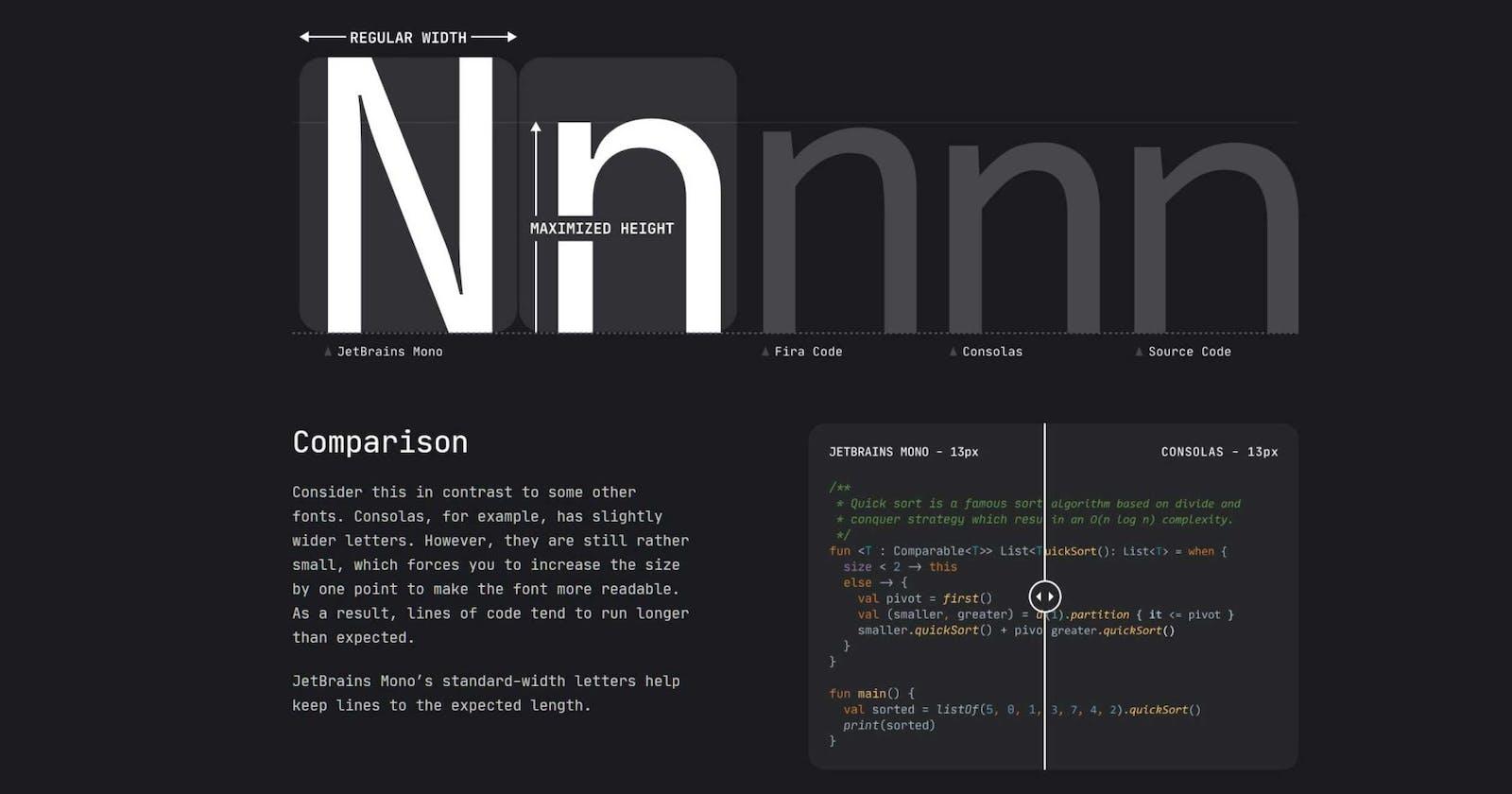 My New Favorite Dev Font