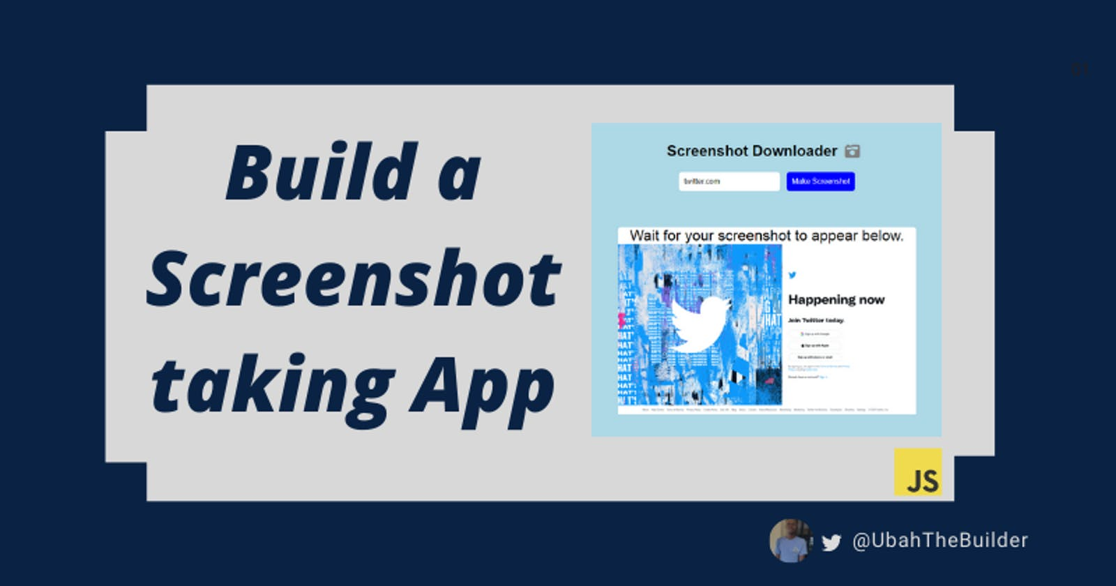Build a screenshot downloader app with plain JavaScript in 10 minutes
